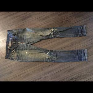 f1ecfda02d Nudie Jeans Jeans - Nudie Thin Finn Dry Organic Ecru Embo